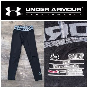 Youth Small Under Armour Black Fitted Sweat Pants